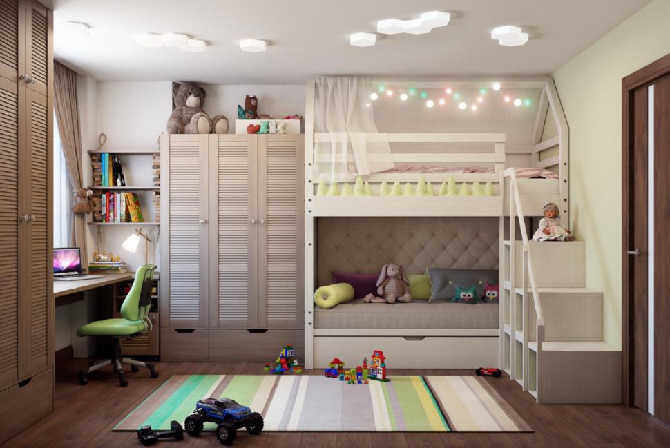 Оформление детской комнаты для двоих детей